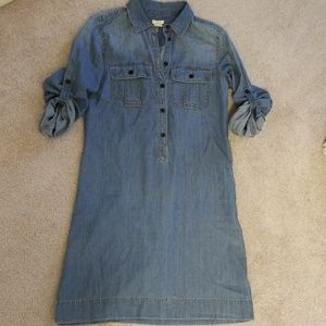 J crew mid length Jean dress